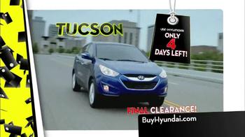 Hyundai Black Tag Clearance Event TV Spot, 'Final 4 Days' - Thumbnail 3