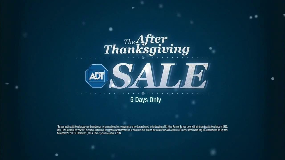 ADT After Thanksgiving Sale TV Spot