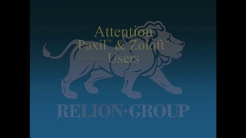 Relion Group TV Spot, 'Paxil and Zoloft Users' - Thumbnail 1