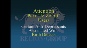 Relion Group TV Spot, 'Paxil and Zoloft Users' - Thumbnail 2
