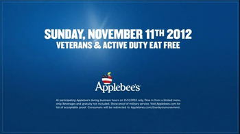 Applebee's Veterans Day TV Spot 'Stand Up' Song by Sugarland - Thumbnail 8