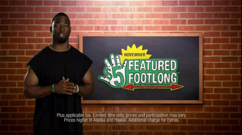 Subway Spicy Italian TV Spot Featuring Justin Tuck and Ndamukong Suh - 361 commercial airings