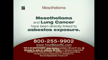 Sokolove Law TV Spot, \'Mesothelioma\'