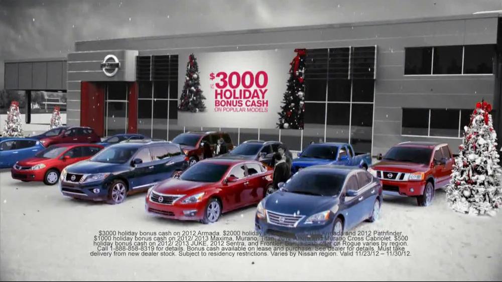 Nissan Season to Save TV Commercial, 'Holiday Bonus Cash ...