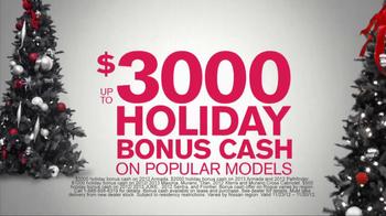 Nissan Season to Save TV Spot, 'Holiday Bonus Cash' - Thumbnail 4