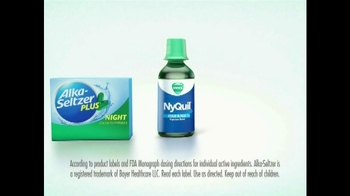 NyQuil vs Alka-Seltzer TV Spot, 'On the Couch' - Thumbnail 8