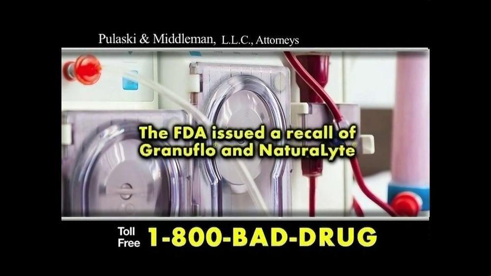Pulaski Law Firm >> Pulaski & Middleman TV Commercial, 'Dialysis Patients' - iSpot.tv