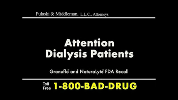 Pulaski & Middleman TV Spot, 'Dialysis Patients' - Thumbnail 1