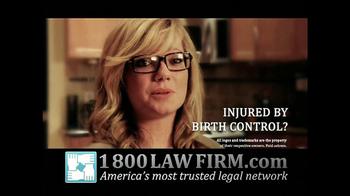1-800-LAW-FIRM TV Spot, 'Yaz Birth Control Injury' - Thumbnail 10