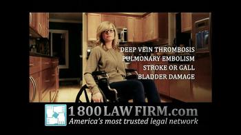 1-800-LAW-FIRM TV Spot, 'Yaz Birth Control Injury' - Thumbnail 8