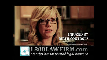1-800-LAW-FIRM TV Spot, \'Yaz Birth Control Injury\'