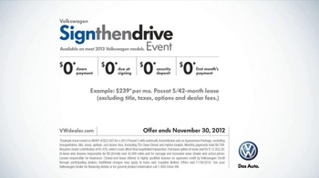 Volkswagen Sign Then Drive TV Spot, 'Test Drive: Dinner' - Thumbnail 10