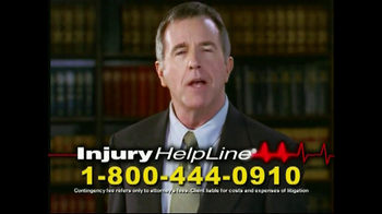 Injury Helpline TV Spot, 'Bookcase'
