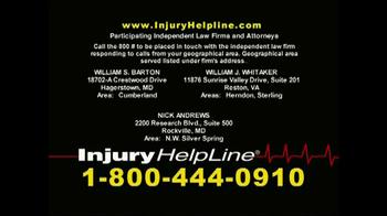 Injury Helpline TV Spot, 'Bookcase' - Thumbnail 9