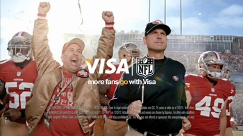 VISA NFL Fan Offers TV Spot Featuring Jim Harbaugh - 4 commercial airings