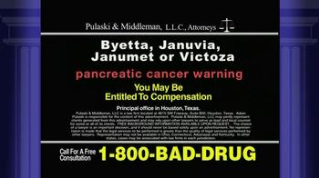 Pulaski & Middleman TV Spot, 'Byetta, Januvia, Janumet or Victoza' - Thumbnail 5
