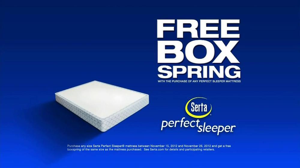 Serta Biggest Mattress Savings Of The Year Tv Commercial Free Box Spring Ispot Tv