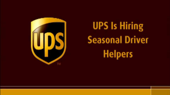 UPS TV Spot, 'Now Hiring Seasonal Drivers' - Thumbnail 1