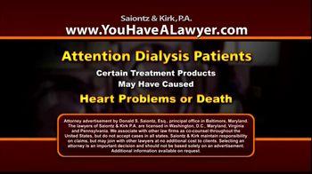 Saiontz & Kirk, P.A. TV Spot 'Dialysis'