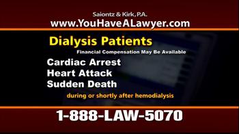 Saiontz & Kirk, P.A. TV Spot 'Dialysis' - Thumbnail 4