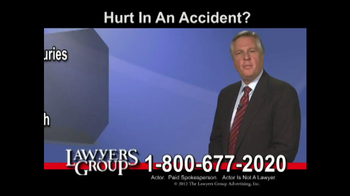 Lawyers Group TV Spot, 'Car Accident' - Thumbnail 1
