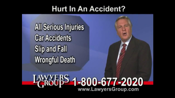 Lawyers Group TV Spot, 'Car Accident' - Thumbnail 2