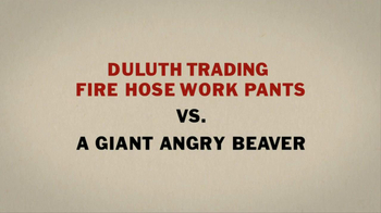 Duluth Trading Fire Hose Work Pants TV Spot 'Giant Angry Beaver' - Thumbnail 4