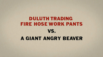 Duluth Trading Fire Hose Work Pants TV Spot 'Giant Angry Beaver' - Thumbnail 5