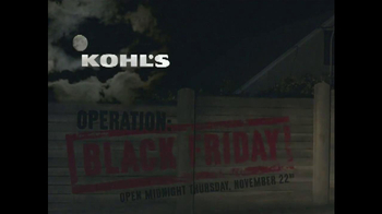Kohl's TV Spot, 'Operation Black Friday' - Thumbnail 1