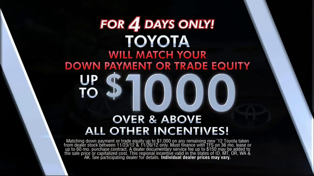 2013 Toyota Highlander For Sale >> Toyota Black Friday Event TV Commercial - iSpot.tv