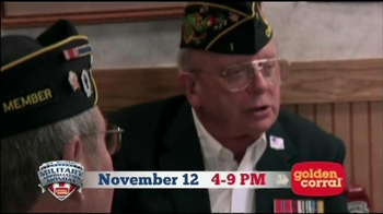 Golden Corral TV Spot, 'Military Appreciation' Featuring Collective Soul - Thumbnail 8