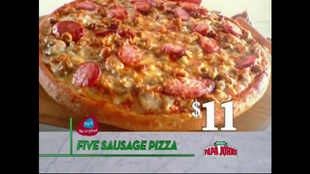 Papa John's Five-Sausage Pizza TV Spot