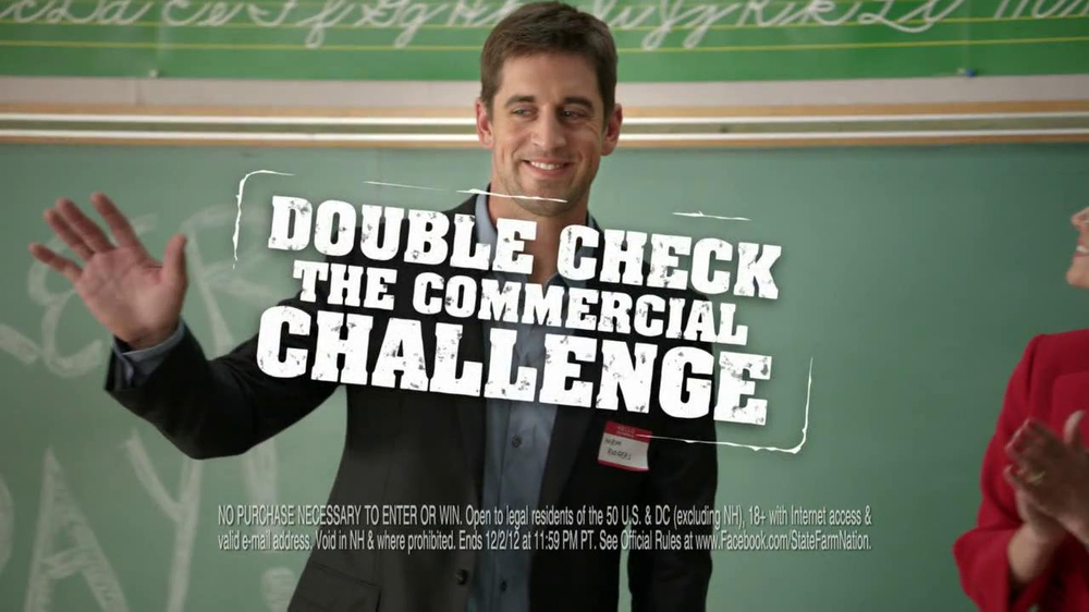 State Farm TV Commercial, 'Double Check the Commercial' Featuring Aaron Rogers