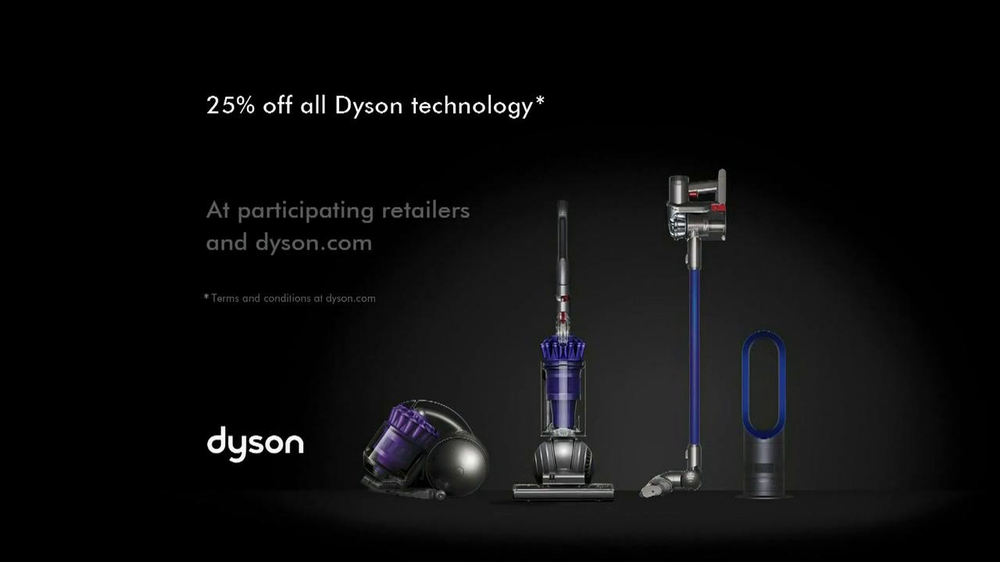 dyson black friday tv commercial 39 from vacuums to fans. Black Bedroom Furniture Sets. Home Design Ideas