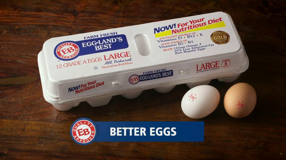 Eggland's Best TV Commercial, 'More Vitamins Less Saturated Fat'