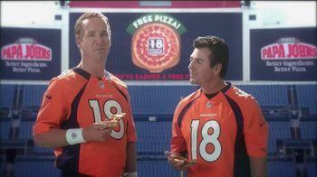 Papa John's TV Spot, 'Good in Orange' Featuring Peyton Manning - 24 commercial airings