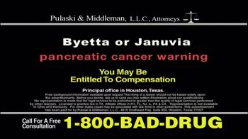 Pulaski & Middleman TV Spot, 'Byetta or Januvia' - Thumbnail 10
