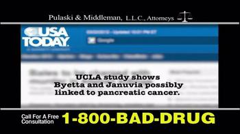 Pulaski & Middleman TV Spot, 'Byetta or Januvia' - Thumbnail 2