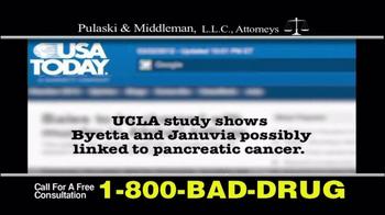 Pulaski & Middleman TV Spot, 'Byetta or Januvia' - Thumbnail 3