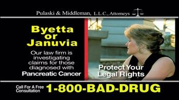 Pulaski & Middleman TV Spot, 'Byetta or Januvia' - Thumbnail 7