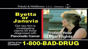 Pulaski & Middleman TV Spot, 'Byetta or Januvia' - Thumbnail 8