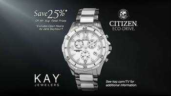 Kay Jewelers Citizen Eco-Drive Watch TV Spot, 'Santa: The Perfect Gift: Save 25 Percent on Citizen Watch' - Thumbnail 7