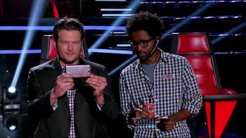 Samsung Galaxy Note II TV Spot, 'The Voice' Featuring Blake Shelton