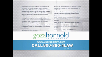 Goza Honnold Trial Lawyers TV Spot, 'Granuflo' - Thumbnail 4