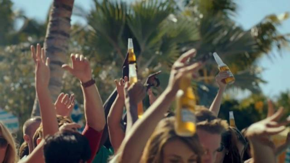 Corona light tv commercial pool party ispot aloadofball Choice Image