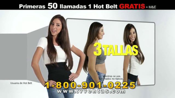 Hot Shapers Hot Belt TV Spot, 'Menos Tallas' [Spanish]