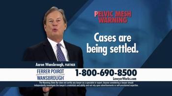 Ferrer, Poirot and Wansbrough TV Spot, 'Pelvic Mesh Verdicts'