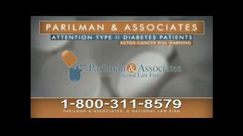 Parilman & Associates TV Spot, 'Actos and Type II Diabetes' - Thumbnail 6