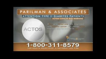 Parilman & Associates TV Spot, 'Actos and Type II Diabetes' - Thumbnail 4