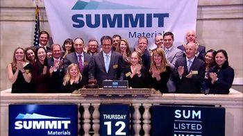 New York Stock Exchange TV Spot, 'Summit Materials'